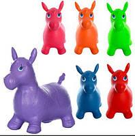 Прыгуны-лошадки ПВХ, 1250г, 6цветов, в кульке, 37-30-5см