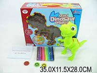"""Проектор """"Динозавр"""" катриджи-картинки,фломастеры,в кор.35*11,5*28см"""