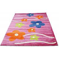 Цветочный коврик в детскую 134*190 см