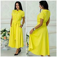 Летнее легкое платье-рубашка в разных расцветках w-5PL1789