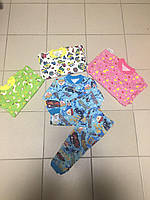 Пижама детская, футер цветной, р.80,86,92-98,104-110,116