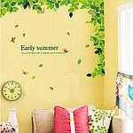 Интерьерная наклейка на стену Зеленые листья  (AM018), фото 3