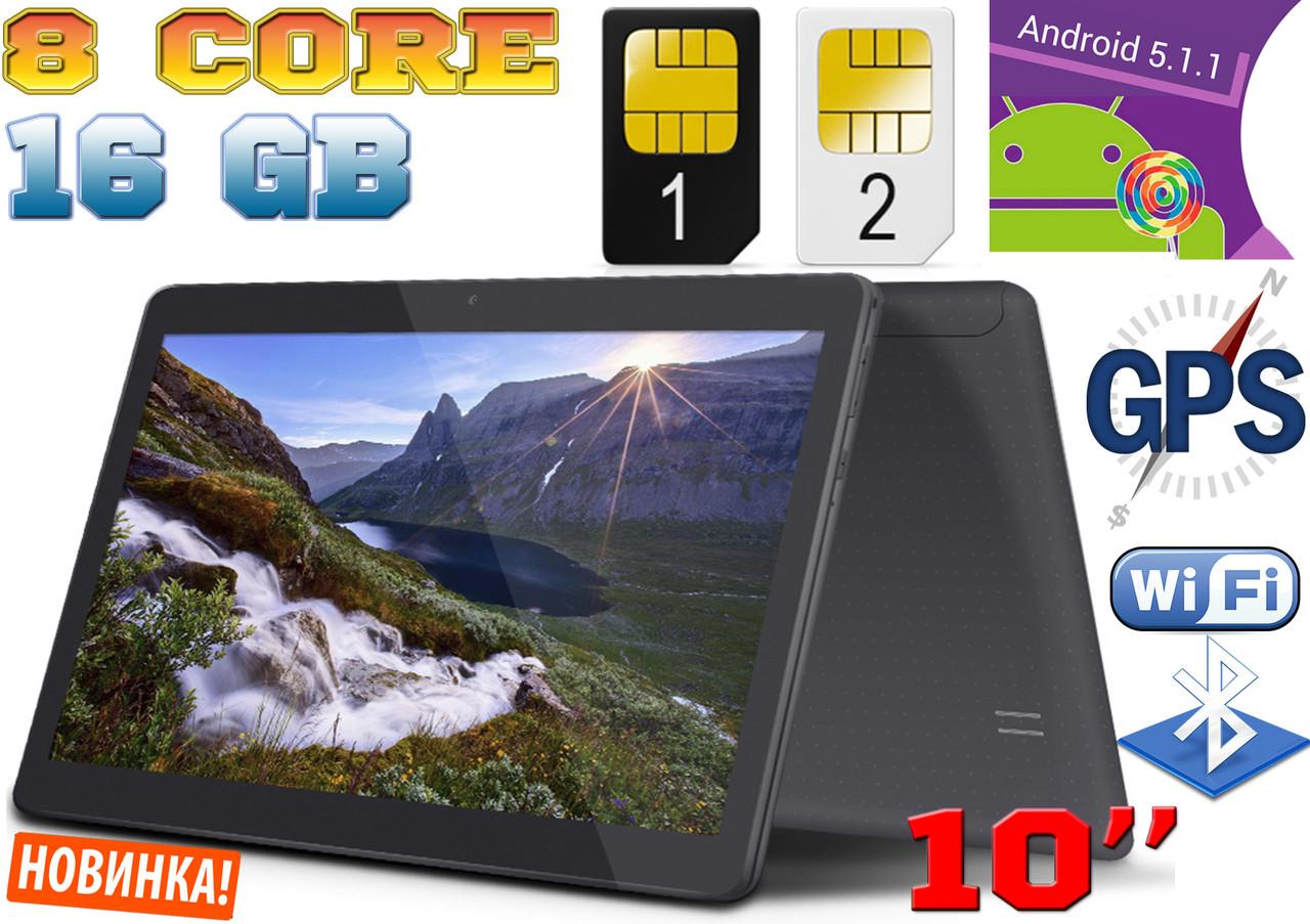 Планшет телефон Samsung K10, 8 ядер, 10', 16 Gb, GPS, 2 sim