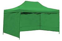 Торговая Палатка, для Сада, для Выставки 3х6 Зеленая Полиэстер 3 стенки