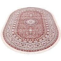 Овальный ковер розового цвета 80*150 см