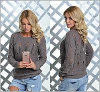 Стильный женский свитер в разных расцветках n-9KF341