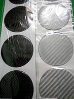 Силиконовые 3D наклейки на диски и колпаки карбон