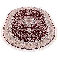 Овальный ковер в классическом дизайне (бордовый) 250*400 см.