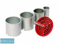 Набор корончатых сверл для плитки 4 ед., 33-73мм, вольфрамовое напыление 1 MasterTool 2-08-004