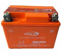 Мото аккумулятор H&T 7ач 12В  YTX7A-BS