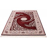 Синтетический коврик с восточными мотивами (бордовый) 150*230 см.