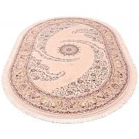 Овальная ковровая дорожка (бежевый) 150*230 см.