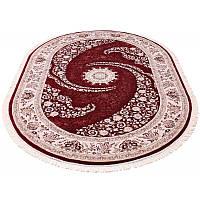 Овальный коврик (бордовый) 300*400 см.