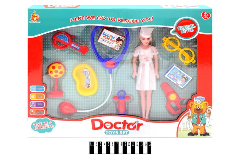 Детский набор доктора с куклой 881-3