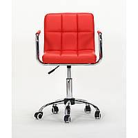 Парикмахерское кресло HC8325К красное