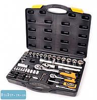Набор ключей и насадок торцевых 72 шт 1 MasterTool 78-5072