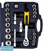 Набор ключей и насадок торцевых  21 штук 1 MasterTool 78-4021