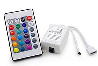 Контроллер для RGB светодиодной ленты с ПДУ 12В 24 кнопки, фото 1