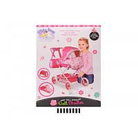 Коляска для кукол с корзиной и сумкой 69986В
