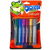 """Клей с блёстками 10,5мл """"Dorgi frog"""" 6 цветов"""