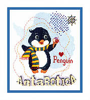 """Набор для вышивания крестом ВТ-180 """"Детский мир. Антарктика"""" Crystal Art"""