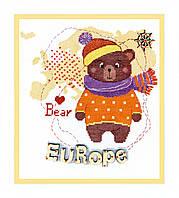 """Набор для вышивания крестом ВТ-181 """"Детский мир. Европа"""" Crystal Art"""