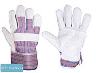 Перчатки комбинированные из замши и ткани, сшивная ладонь 10,5 MasterTool 83-0701