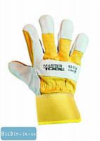 Перчатки комбинированные из замши и ткани MasterTool 83-0706