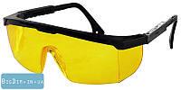 Очки защитные, с регулируемыми дужками жёлтая 82-0603
