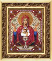 Набор для вышивания бисером Б-1009 Икона Божьей Матери Неупиваемая чаша