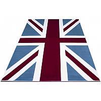 Яркий ковер с флагом Великобритании 152*230 см.