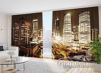"Фото Шторы в зал ""Вечерний Шанхай"" 2,7м*2,9м (2 полотна по 1,45м), тесьма, фото 1"