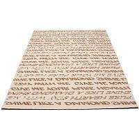 Напольное покрытие с надписями  150*233 см.