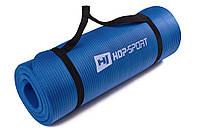 Мат для фитнеса HS-4264 1 см blue  для дома и спортзала