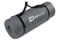 Мат для фитнеса HS-4264 1 см gray  для дома и спортзала