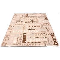 Бежевый ковер с надписями  150*233 см., фото 1