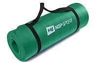 Мат для фитнеса HS-4264 1,5см green  для дома и спортзала