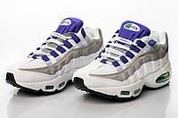 Размер 37 и 40!!!  Женские кроссовки Nike Air Max 95 Silver / найк /Silver / реплика (1:1 к оригиналу)