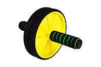 Ролик для пресса Hop-Sport yellow  для дома и спортзала