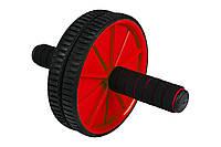 Ролик для пресса Hop-Sport red для дома и спортзала
