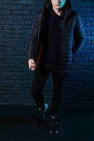 Модная куртка,парка мужская Победов - Pobedov Double Colour Spring Jacket(Double Black)