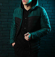 Стильная куртка,парка мужская Победов - Pobedov Double Colour Spring  Jacket(Black - Green ad859a6c230