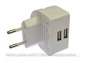 Сетевое зарядное устройство Remax RMT-7188, 2.1 A, 2 USB, white (белый)