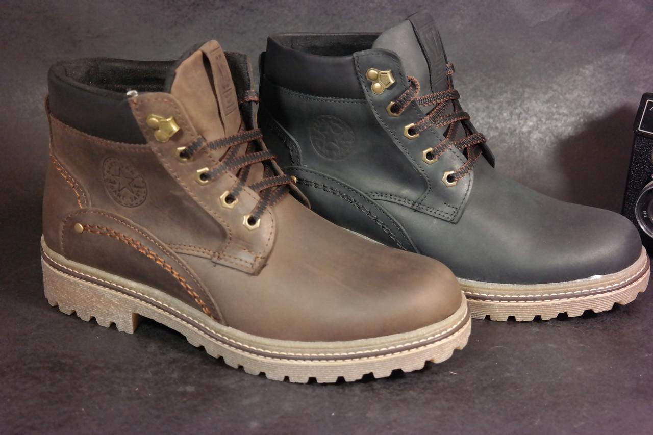 Зимние мужские кожаные ботинки в стиле Timberland тимберленд