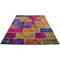 Ковер с разноцветными геометрическими фигурами 160*230 см