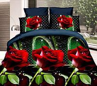 Двуспальный набор постельного белья 180*220 из Ранфорса №314 Черешенка™