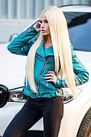 Женская короткая куртка из качественной экокожи (разные цвета)
