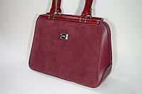 Женская сумка натуральный замш Silvia Rosa 2517 red