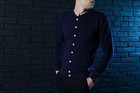 Модный весенний бомбер мужской синий