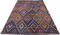 Ковер с узором из разноцветных горошин 200*290 см